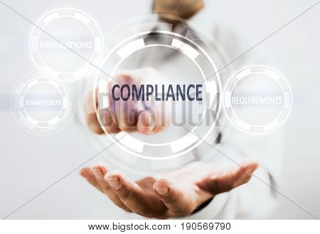 Concept For Compliance For Services On Virtual Screen