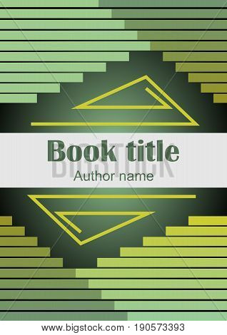 Modern trendy book or brochure template with gradient strips in green EPS10 vector