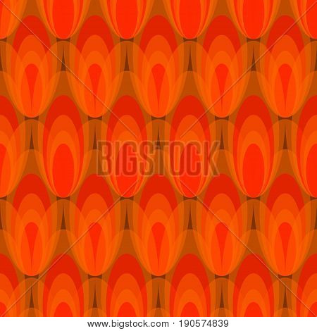 Tulip pattern abstract vector seamless background in red design eps10