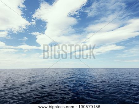 Blue sea and sky horizon. Blue sea and sky horizon