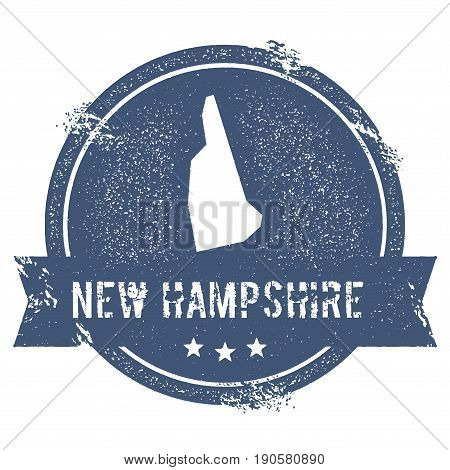 New Hampshire Mark. Travel Rubber Stamp With The Name And Map Of New Hampshire, Vector Illustration.