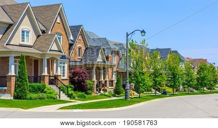 Custom built luxury houses in the suburbs of Toronto, Canada.