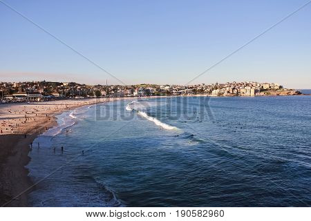 Australia Sydney Bondi Beach Blue Holiday Sunbath