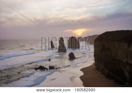 Australia Melbourne Twelve Apostles Amazing Nature Sunset
