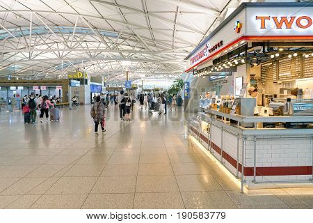 SEOUL, SOUTH KOREA - CIRCA JUNE, 2017: inside Incheon International Airport.