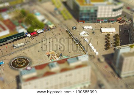 Aerial View Of The Alexanderplatz Public Square In Berlin