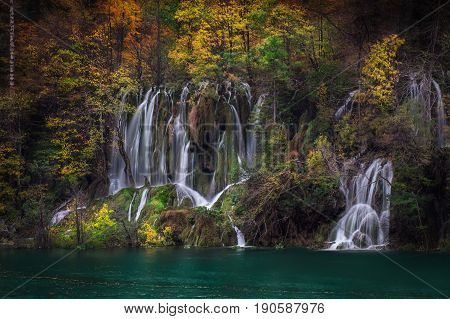 Long Exposure photography of a waterfalls in Plitvice Lakes