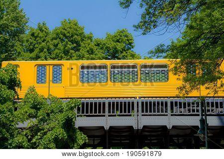 U-bahn Elevated Subway In The City Of Berlin