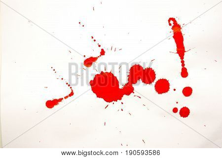 A Drop Of Blood. Cleaning Of Carpets