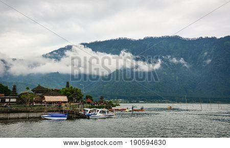 Lake Scenery In Bali, Indonesia