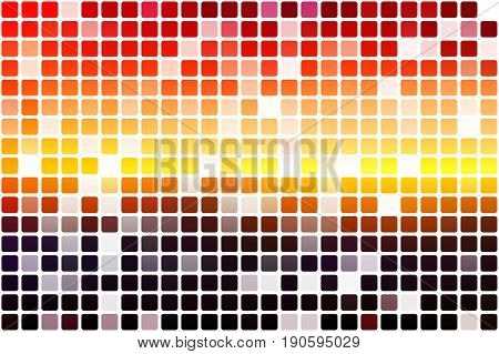 Purple Orange Yellow Red Brown Occasional Opacity Mosaic Over White