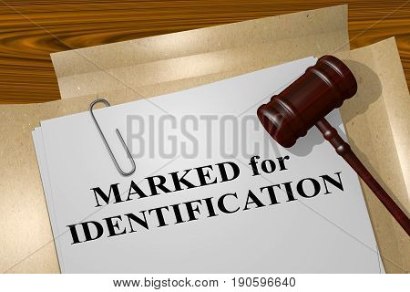 Marked For Identification Concept