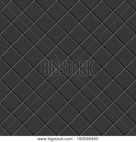 Abstract background seamless texture from black tiles vector illustration.