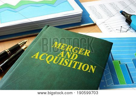 Book with title Merger and Acquisition M&A.
