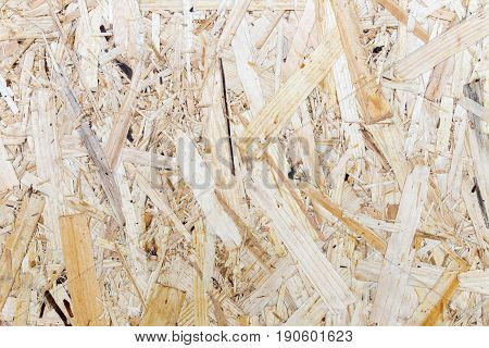 Pressed Wooden Panel Background, Seamless Texture Of Oriented Strand Board - Osb Wood