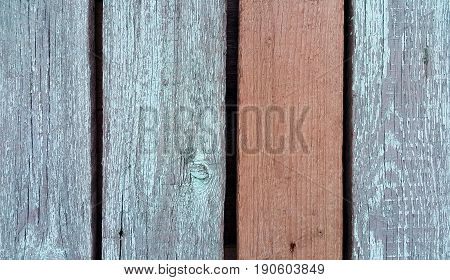 Texture of old wooden fence close up