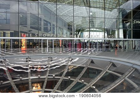 Entrance Of The Shoppes At Marina Bay Sands