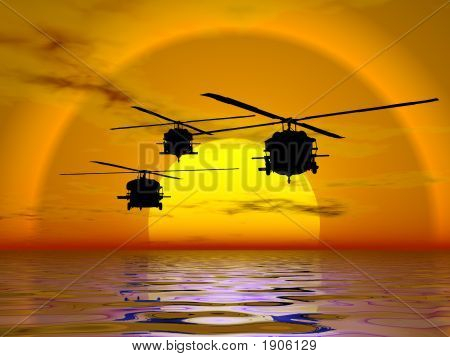 Army Helicopter, Blackhawk
