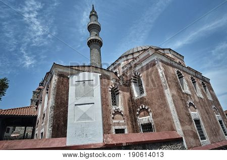 Suleyman's Magnificent Mosque in the city of Rhodes