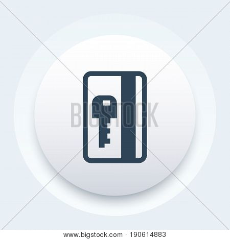 electronic pass icon, card key vector sign, eps 10 file, easy to edit