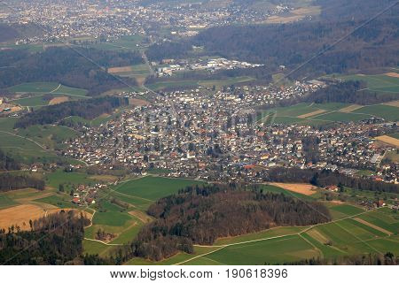 Seon Canton Aargau Switzerland Aerial View Photography