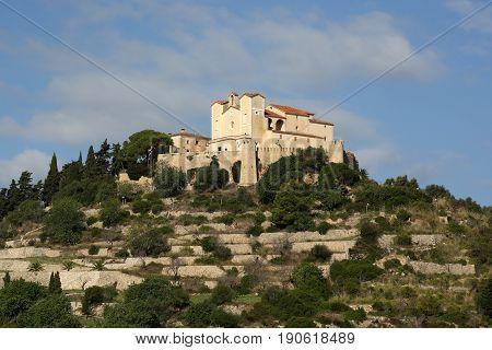 Arta Majorca Mallorca Balearic Islands Church Spain Closeup