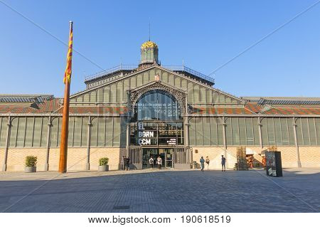 The Born Market Facade, Nineteenth Century. Gothic Quarter Of Barcelona. Barcelona, Catalonia, Spain