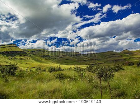 Landscape Of The Drakensberge At The Mkhomazi Wilderness Area