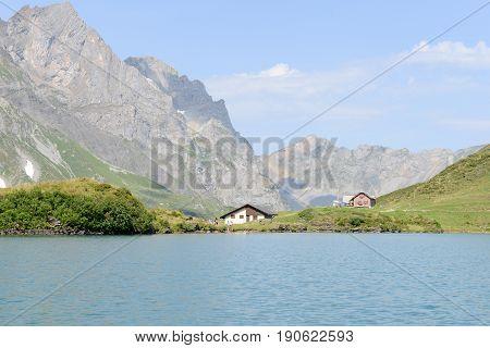 Lake Truebsee Over Engelberg