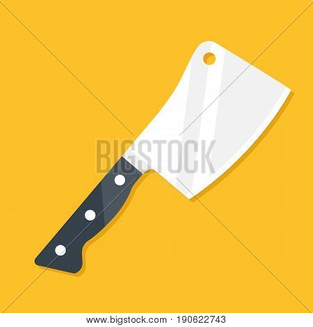 Meat cleaver. Modern flat design. Vector icon