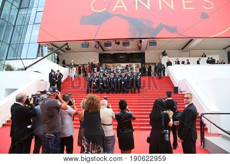 A general view of  attend  'Amant Double (L'Amant Double')' Red Carpet Arrivals during the 70th  Cannes Film Festival at Palais on May 26, 2017 in Cannes, France.