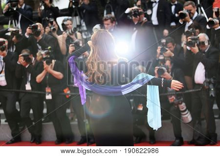 Agnes Jaoui attends 'Amant Double (L'Amant Double')' Red Carpet Arrivals during the 70th annual Cannes Film Festival at Palais des Festivals on May 26, 2017 in Cannes, France.