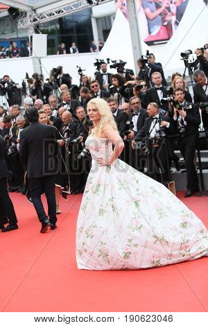 Angela Ismailos attends 'Amant Double (L'Amant Double')' Red Carpet Arrivals during the 70th annual Cannes Film Festival at Palais des Festivals on May 26, 2017 in Cannes, France.