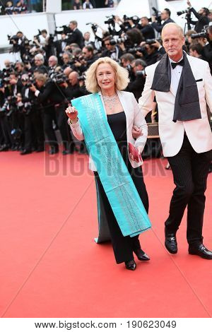 Brigitte Fossey attends 'Amant Double (L'Amant Double')' Red Carpet Arrivals during the 70th annual Cannes Film Festival at Palais des Festivals on May 26, 2017 in Cannes, France.