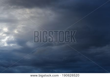 Dramatic Moody Dark Storm Cloud Sky Used Image For A Bad Day Background
