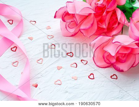 Beautiful Romantic Composition. For Wedding, Birthday, St. Valentines Day Background