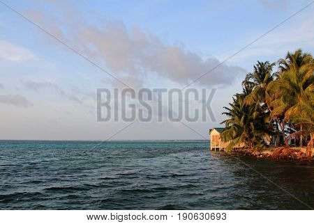 Small island of Tobacco Caye, Belize, Central America