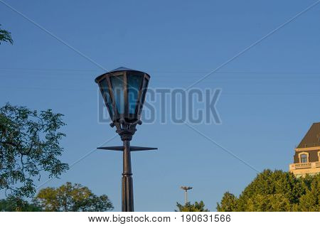 Street Light. City Lantern. The Park Lantern. Vintage Lantern. Column Light.