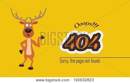 404 connection error with Christmass concept. Vector illustration