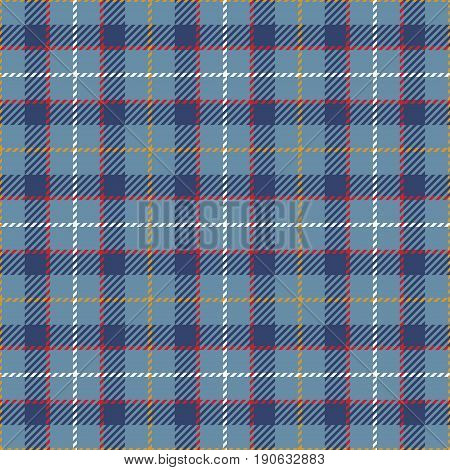 Tartan Seamless Pattern Background. Red Blue Yellow and White Plaid Tartan Flannel Shirt Patterns. Trendy Tiles Vector Illustration for Wallpapers.