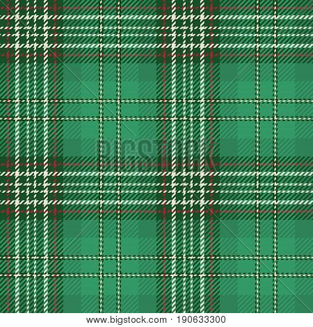 Tartan Seamless Pattern Background. Red Green and White Plaid Tartan Flannel Shirt Patterns. Trendy Tiles Vector Illustration for Wallpapers.