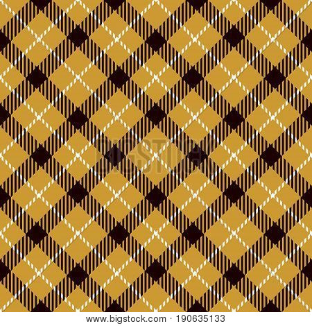 Tartan Seamless Pattern Background. Gold Black and White Plaid Tartan Flannel Shirt Patterns. Trendy Tiles Vector Illustration for Wallpapers