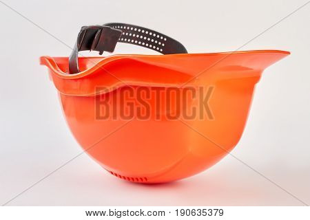 Hardhat isolated with clipping path. Qualitative plastic helmet for supervisor.