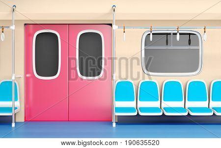 Flat Train Interior