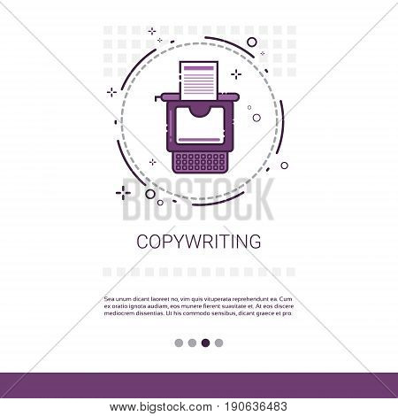 Copywriting Freelance Occupation Content Marketing Web Banner With Copy Space Vector Illustration