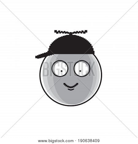 Smiling Cartoon Face Little Baby Boy Child Positive People Emotion Icon Vector Illustration