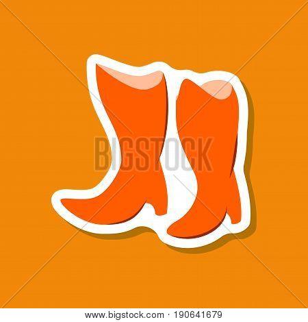 paper sticker fashion footwear Women boots with heels