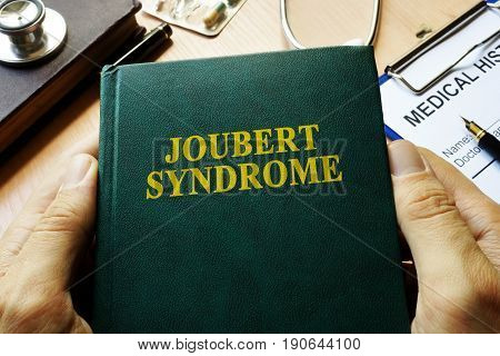 Book with title Joubert Syndrome on a table.