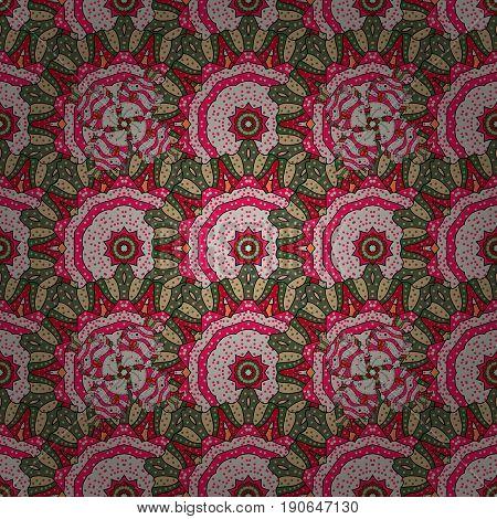 Indian flower mandala. Colorful mandala. Anti-stress mandala. Decorative colored round ornament. Oriental flourish vector. Yoga logo background for meditation poster.