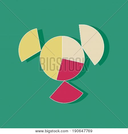 paper sticker on stylish background Circular economic chart